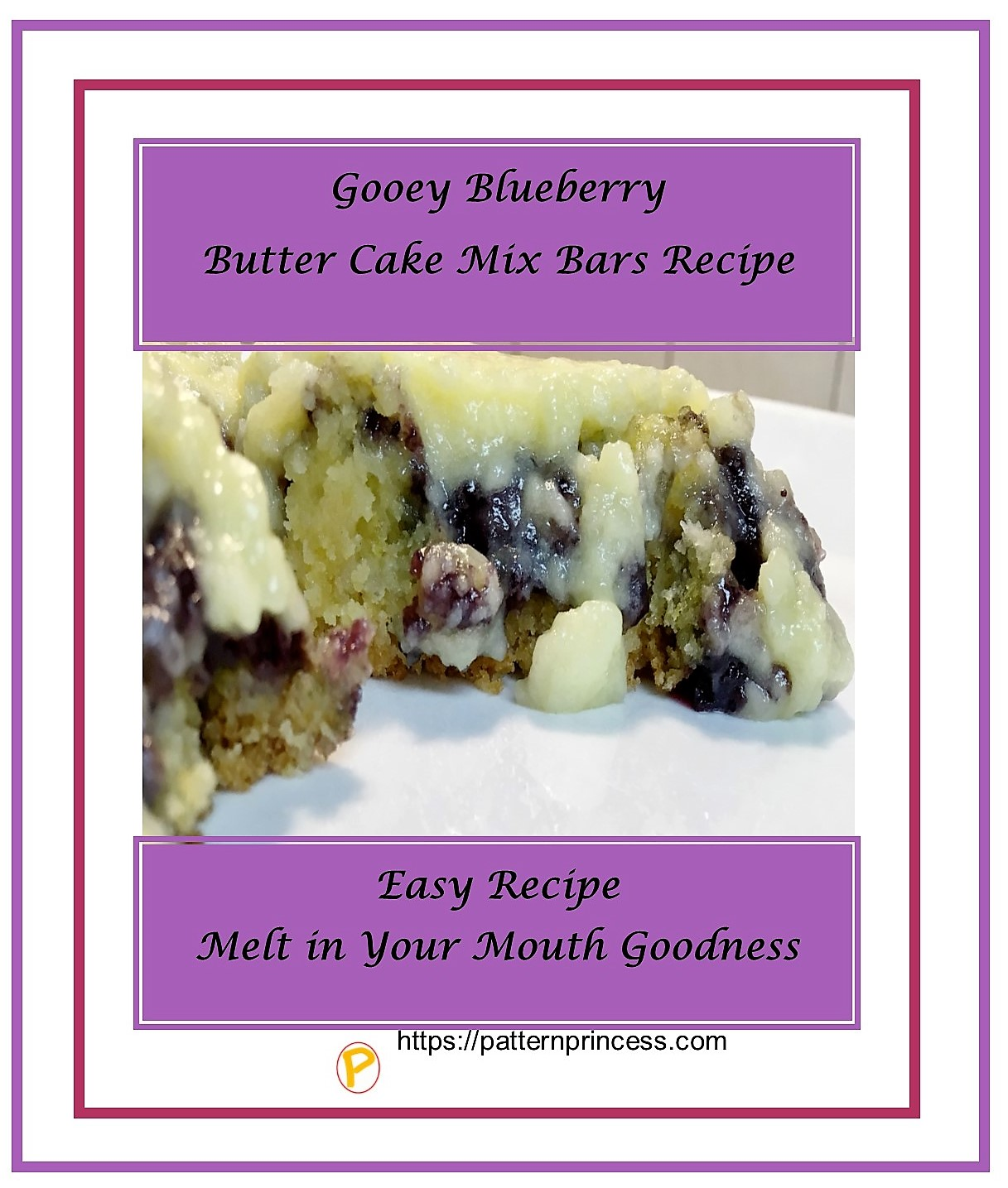 Gooey Blueberry Butter Cake Mix Bars Recipe 1