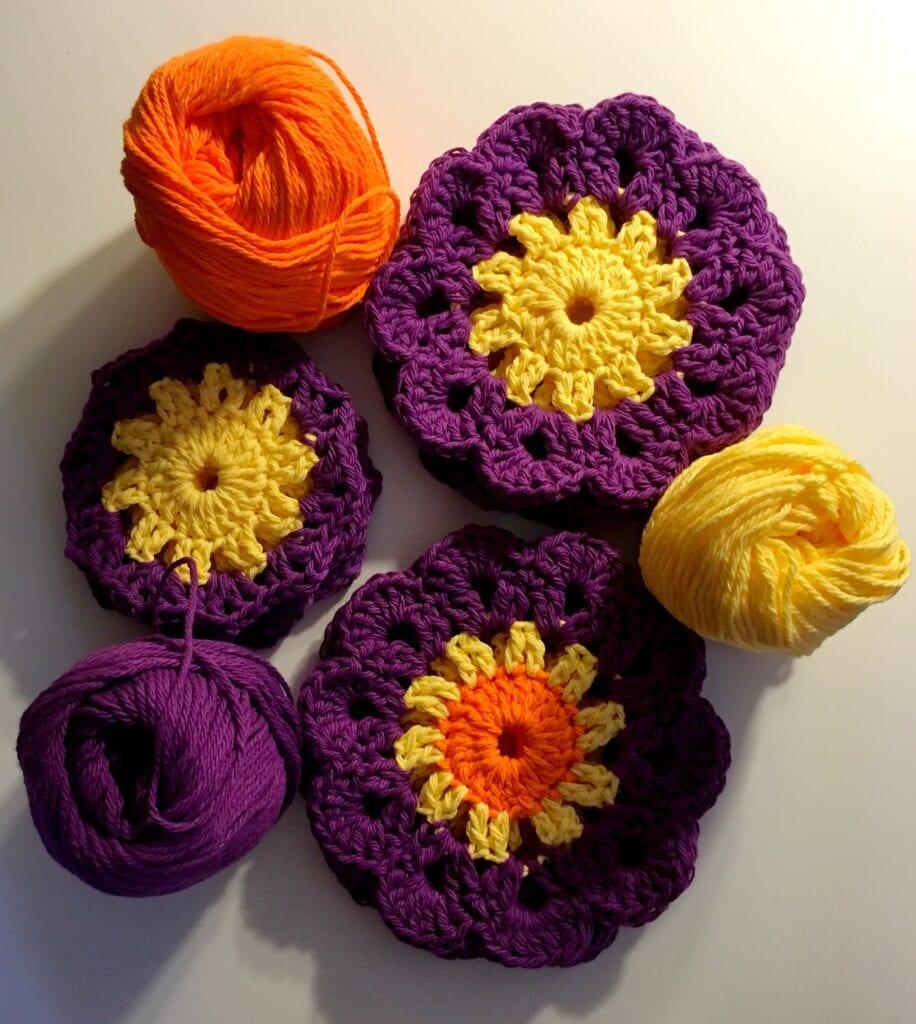 Colorful Crochet Coaster Pattern
