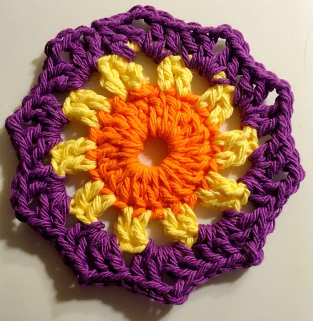 Small Orange Center Sunshine Coaster