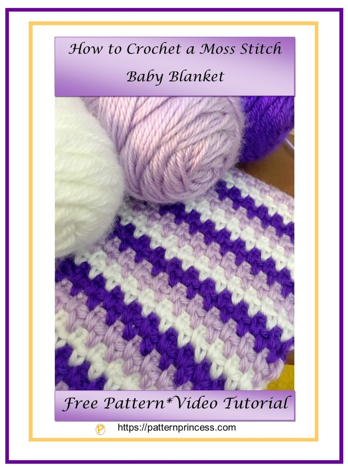 How to Crochet a Moss Stitch Baby Blanket 1