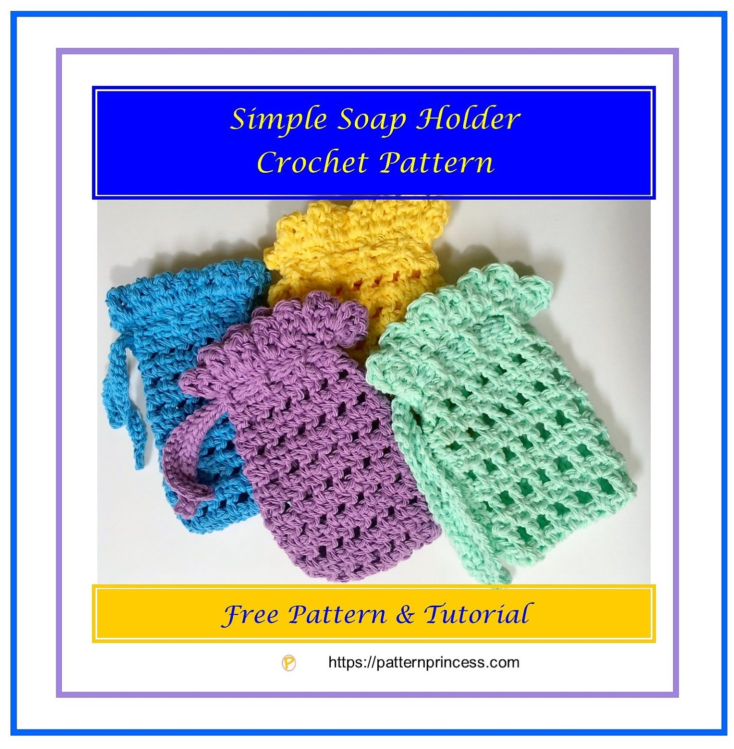 Simple Soap Holder Crochet Pattern 1