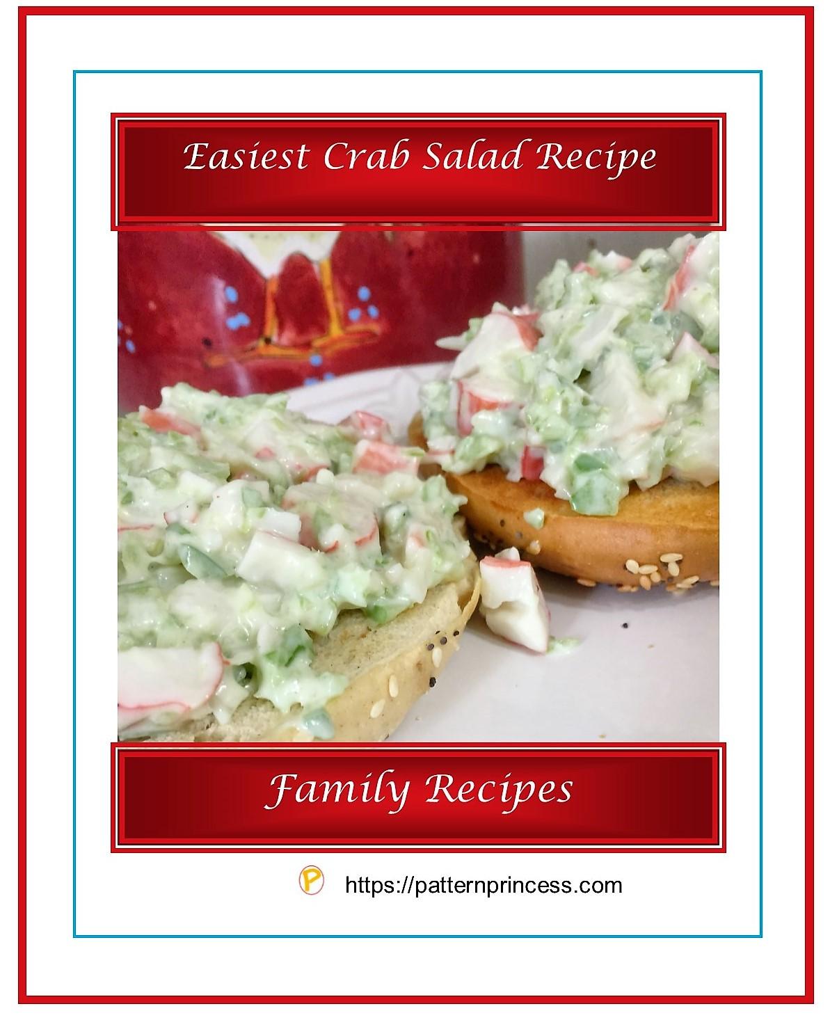 Easiest Crab Salad Recipe 1