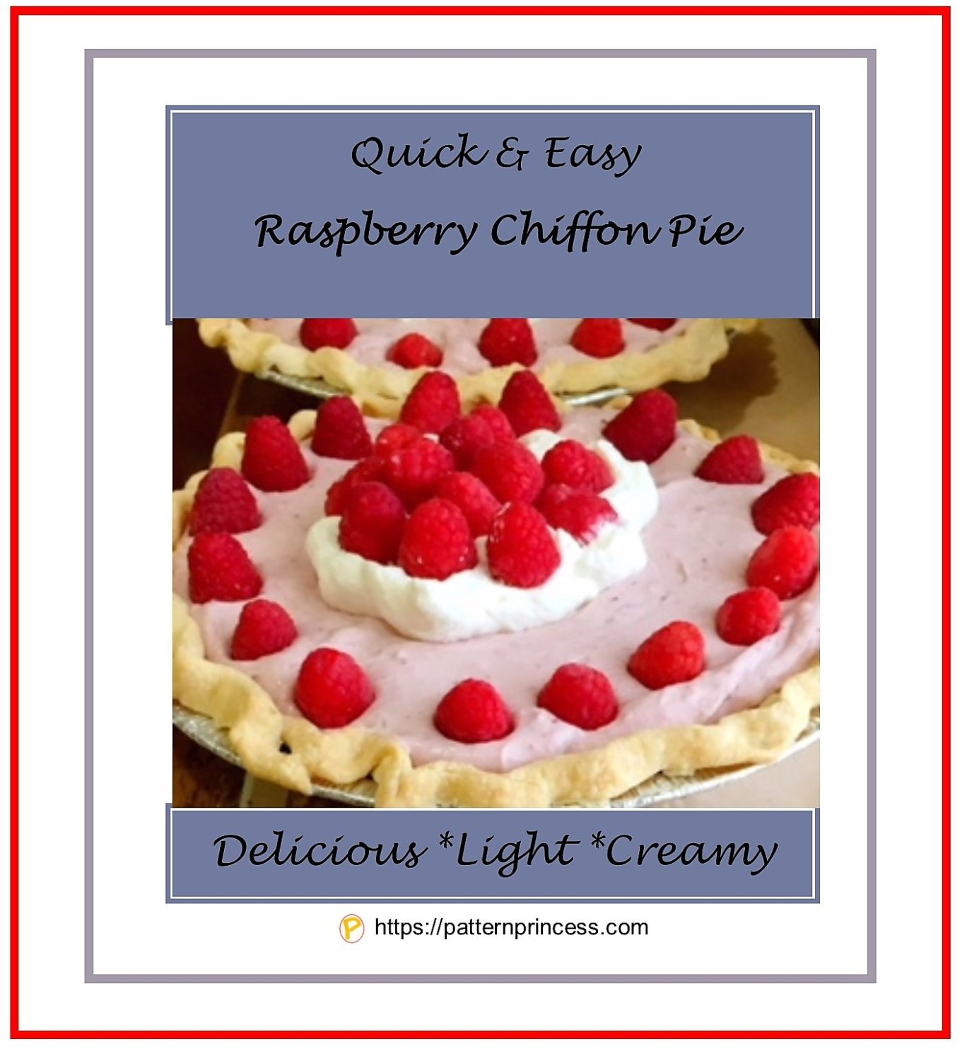 Quick and Easy Raspberry Chiffon Pie 1