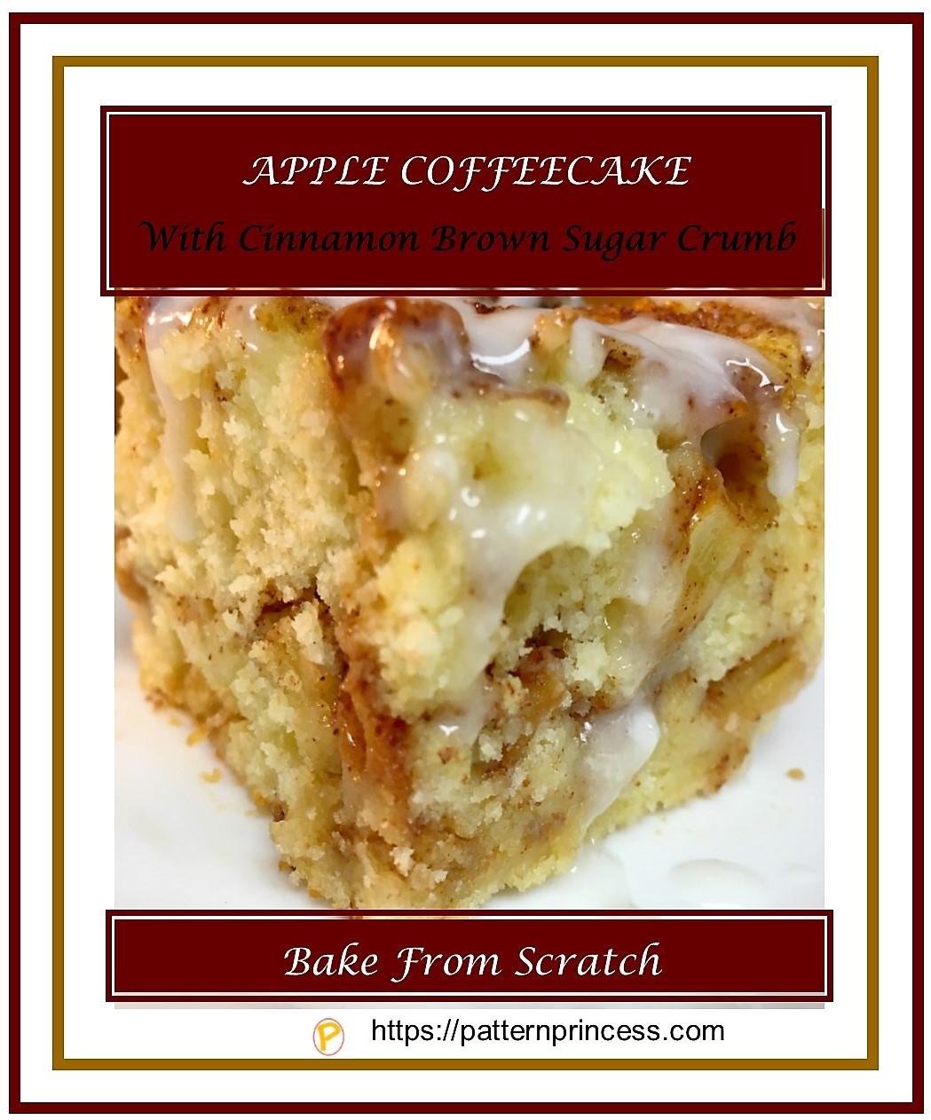 Apple Coffeecake with Cinnamon Brown Sugar Crumb 1