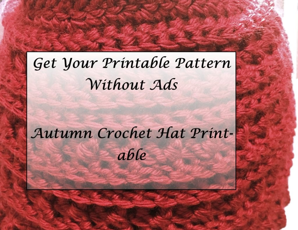 Autumn Crochet Hat Printable without ads