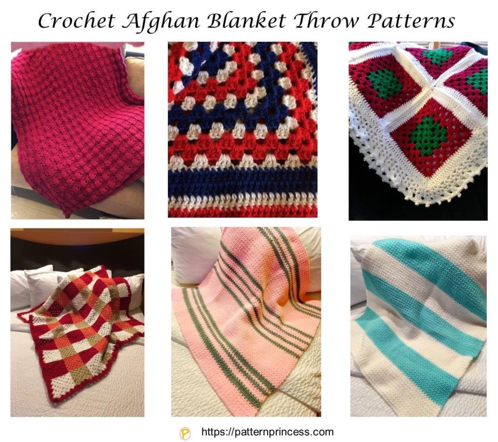 Crochet Afghan Blanket Throw Patterns