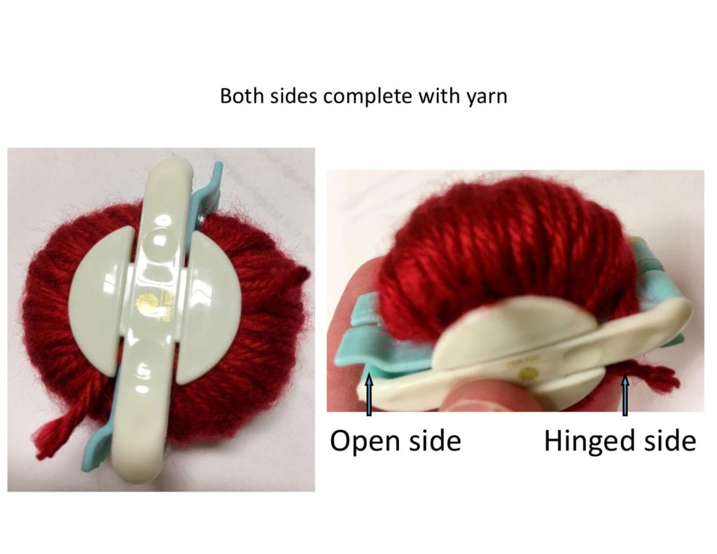 both sides complete with yarn
