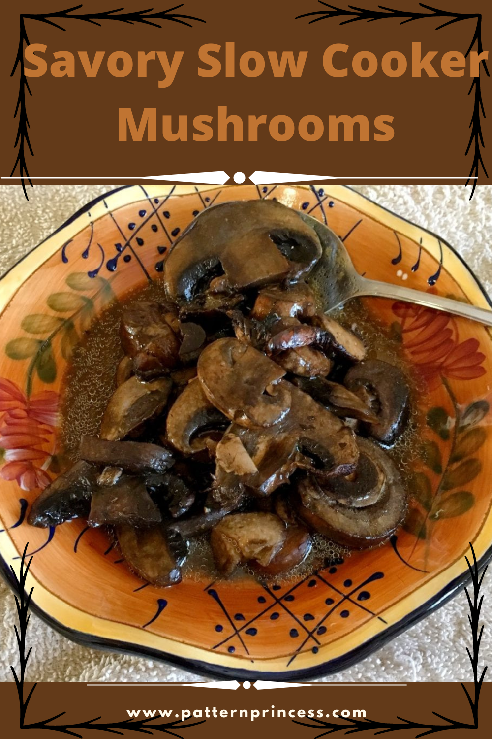 Savory Slow Cooker Mushrooms