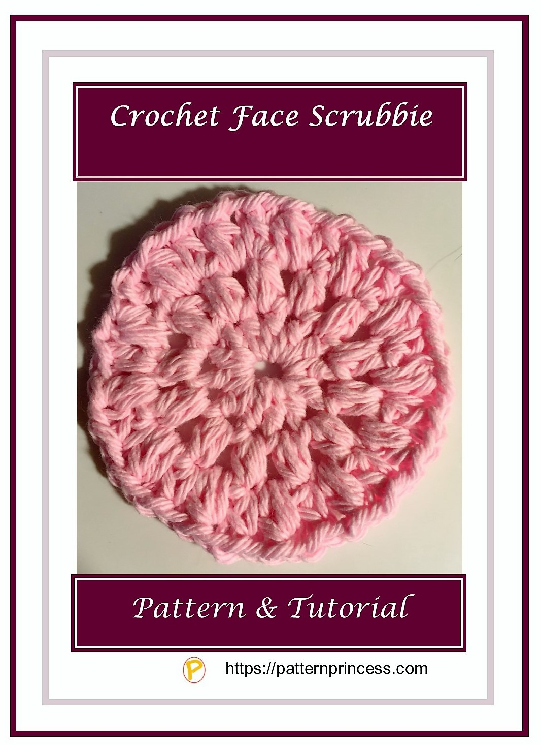Crochet Face Scrubbie 1
