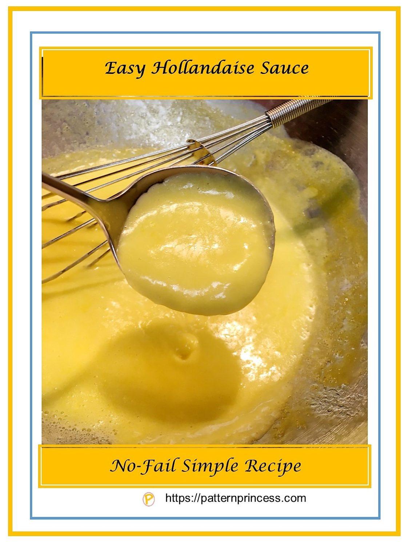 Easy Hollandaise Sauce 1