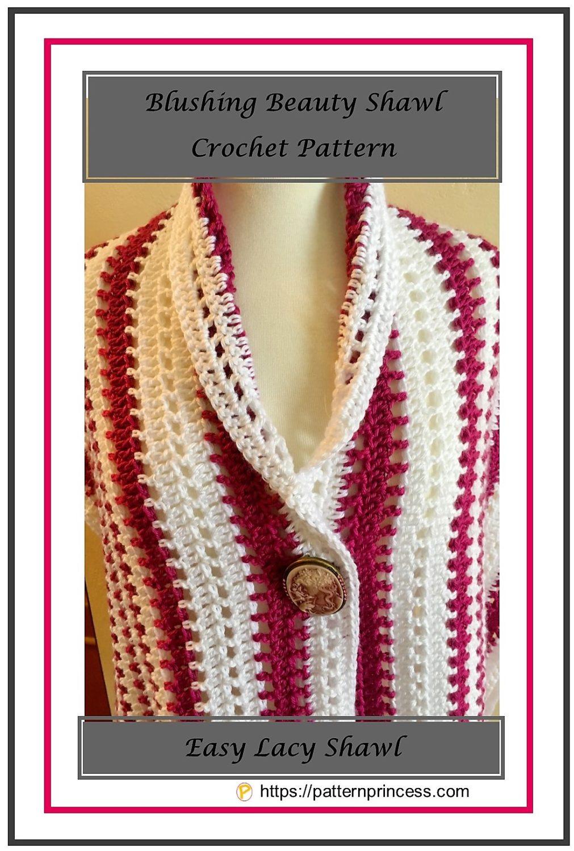 Blushing Beauty Shawl Crochet Pattern 1