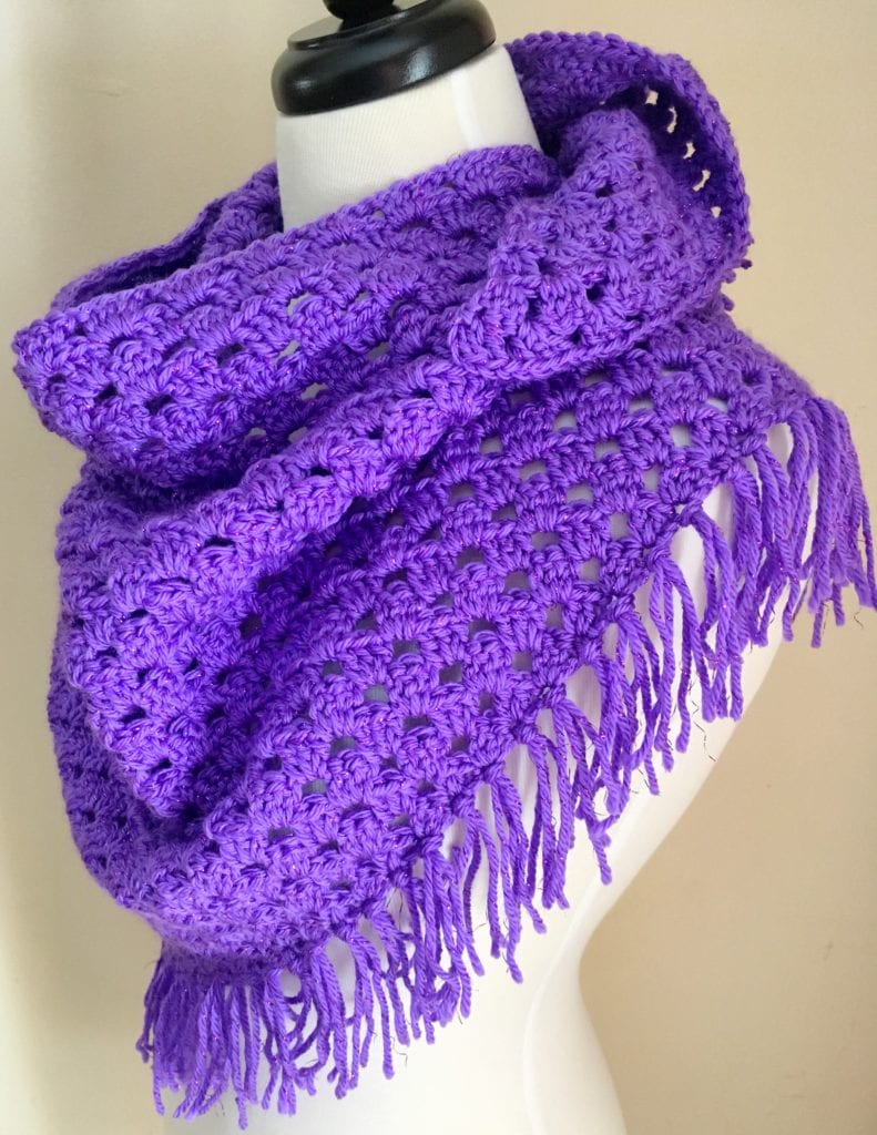 Triangle Shawl with Fringe