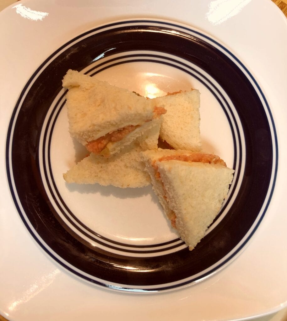 Triangle Finger Food Sandwiches