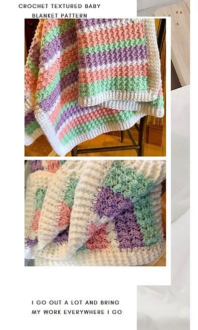 crochet textured baby blanket pattern