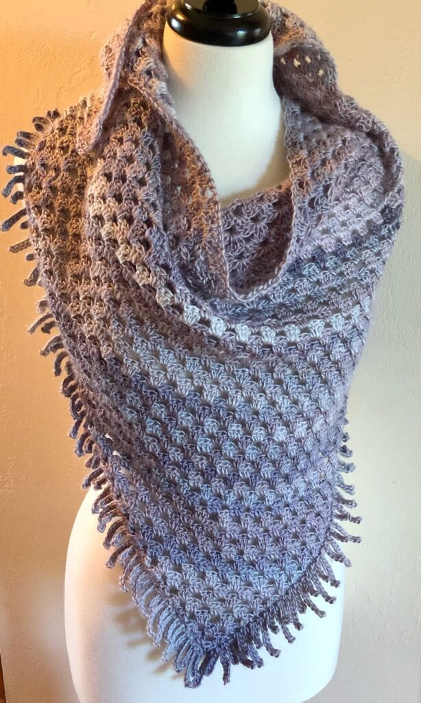 Unforgettable Yarn Crochet Triangle Shawl