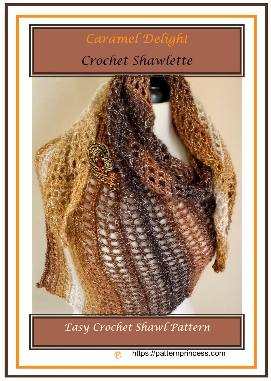 Caramel Delight Crochet Shawlette 1