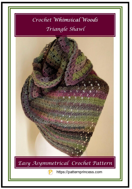 Crochet Whimsical Woods Triangle Shawl 1