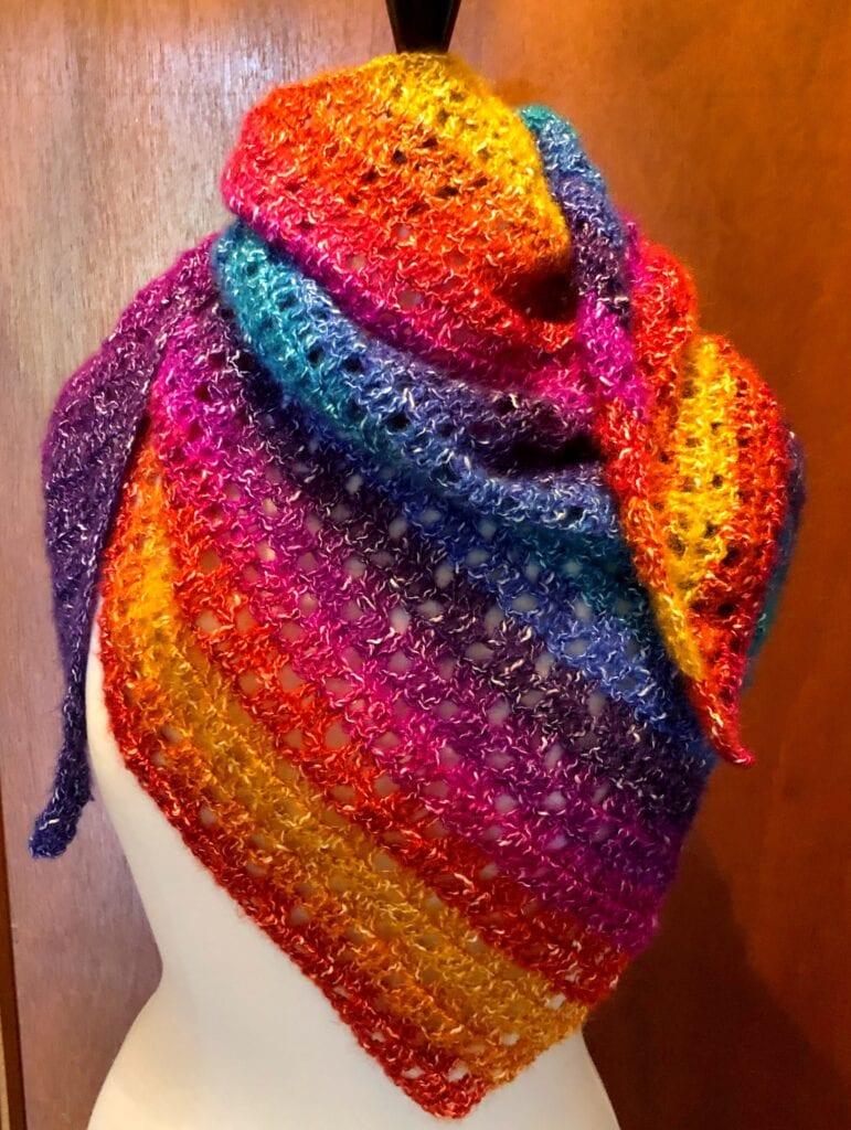 Restful Rainbow Shawl in a Ball yarn Wrap