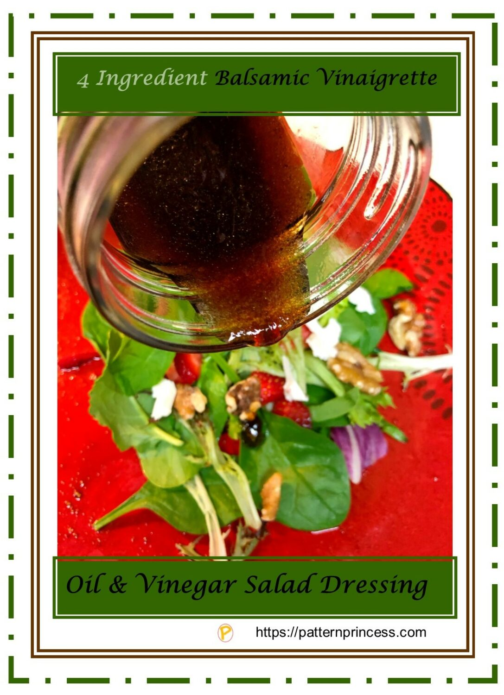 4 Ingredient Balsamic Vinaigrette 1