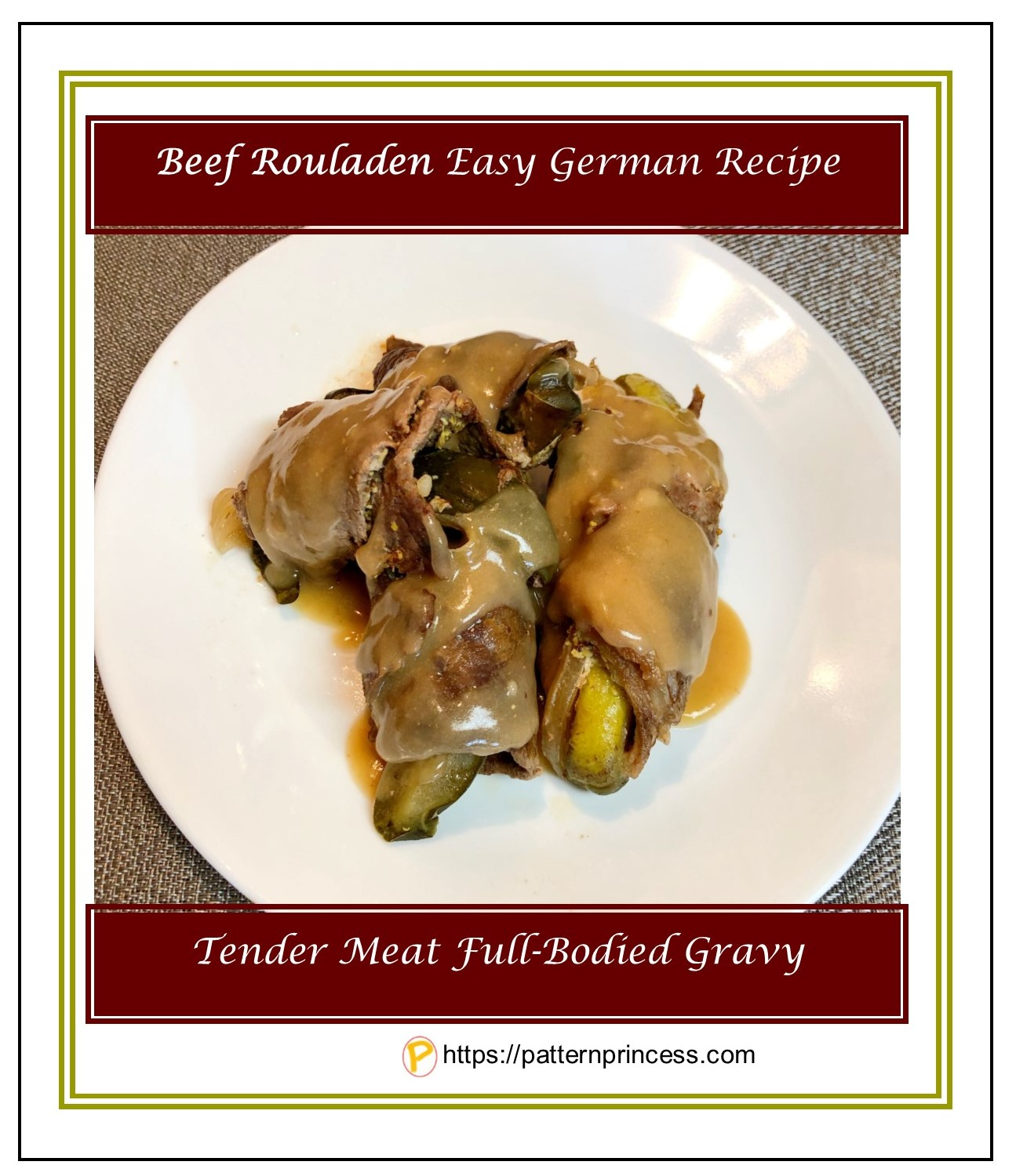 Beef Rouladen Easy German Recipe