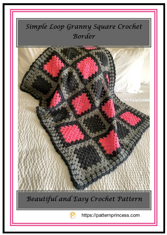 Simple Loop Granny Square Crochet Border 1