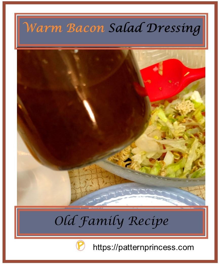Warm Bacon Salad Dressing 1