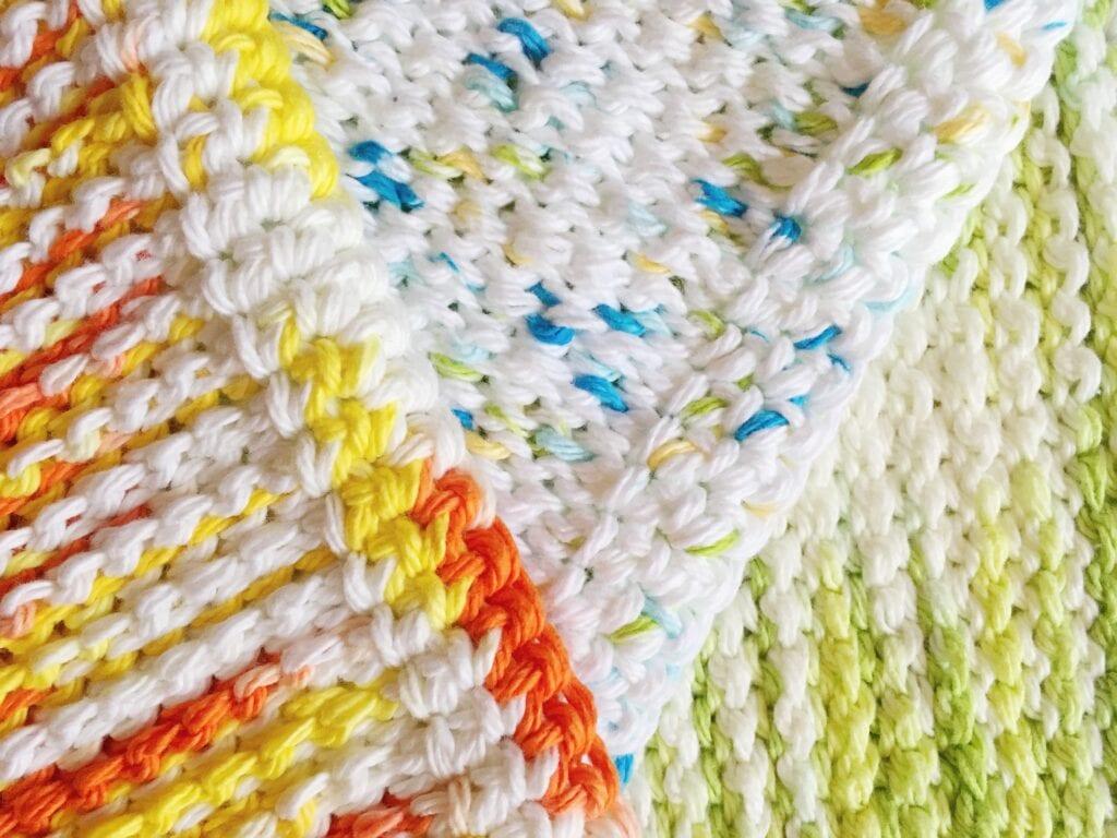 Colorful Crocheted SPA Washcloths