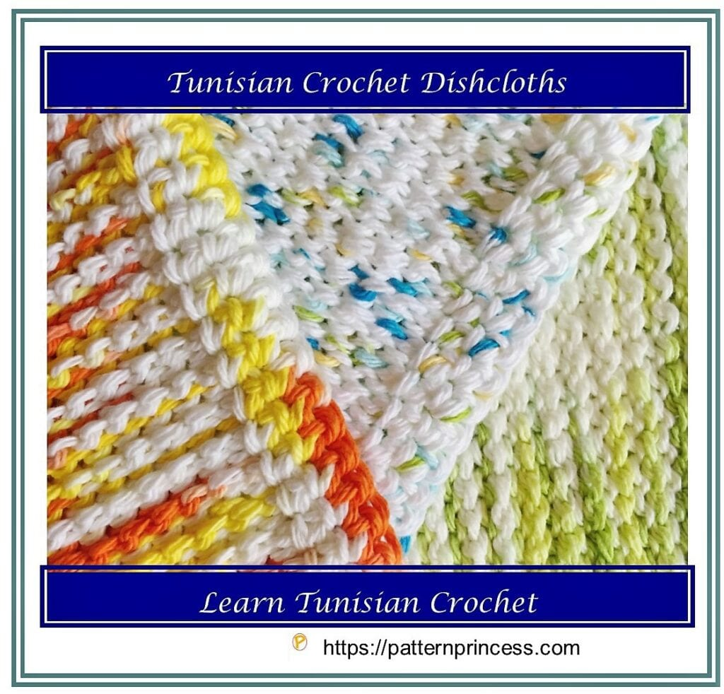 Tunisian Crochet Dishcloths