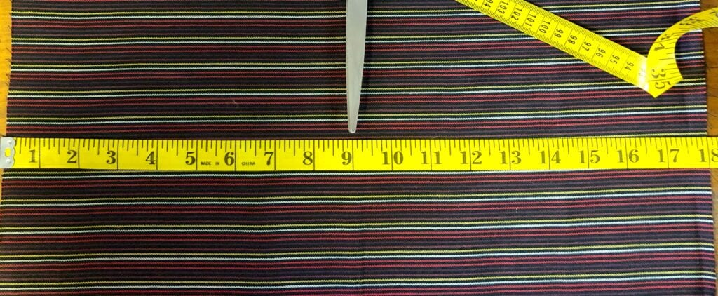 Measuring the Width of a Fat Quarter of Fabric