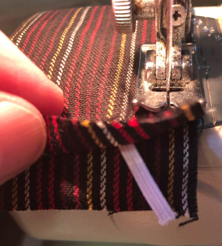 Adding Elastic Between Fabric Layers