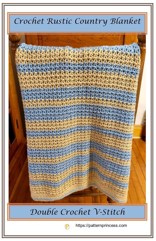 Crochet Rustic Country Blanket Pattern