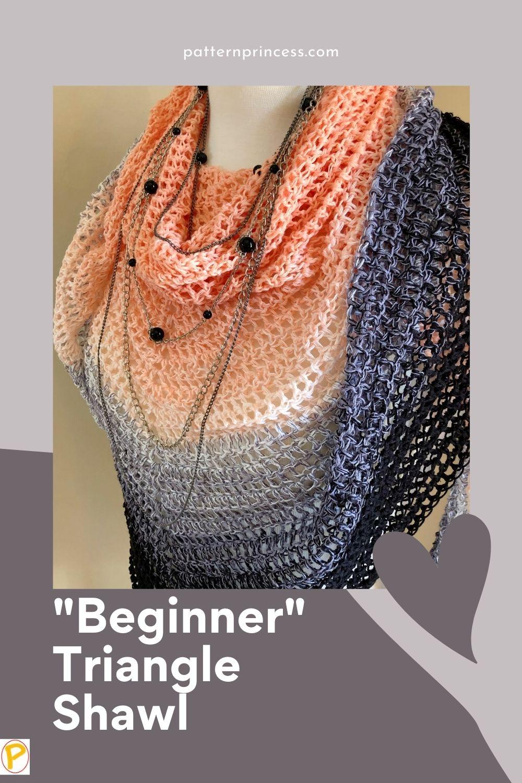 """""""Beginner"""" Triangle Shawl"""