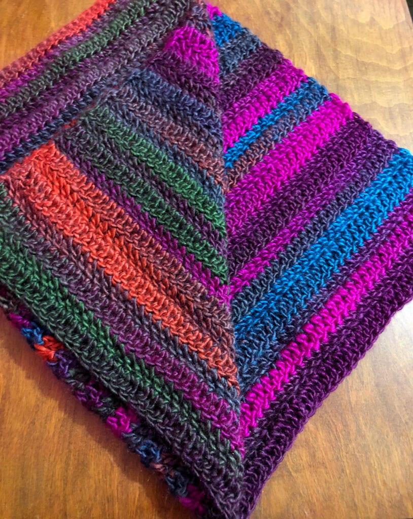 Vibrant 4-Hour Crochet Table Runner Folded