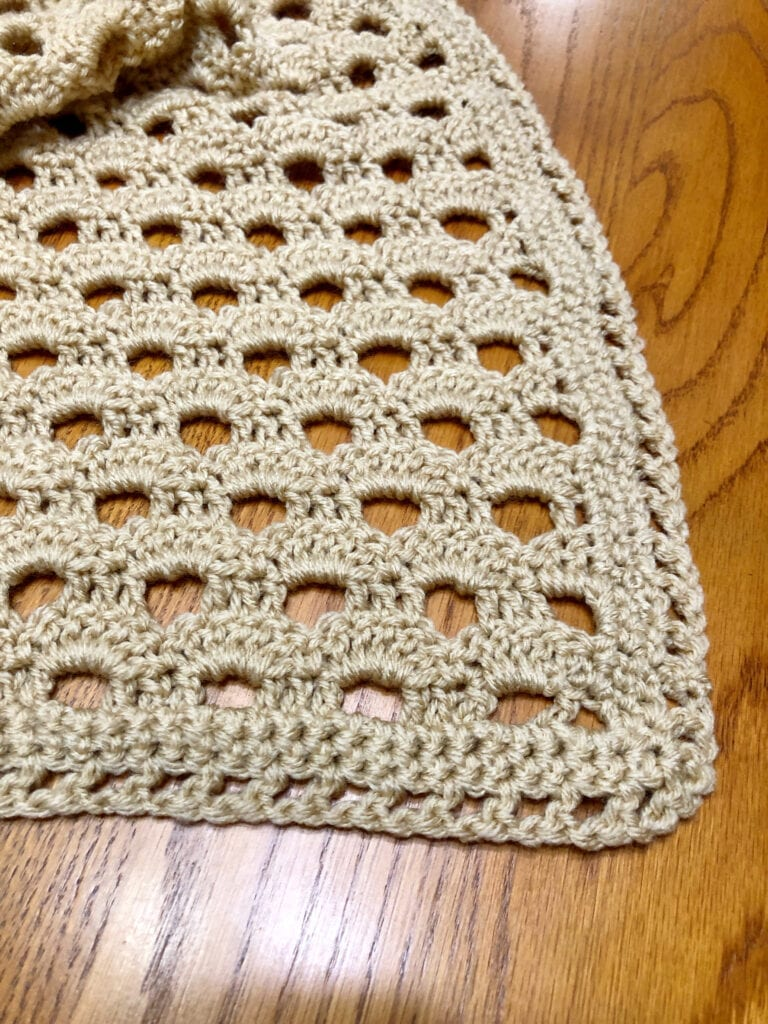 Crochet Shell Afghan Close Up