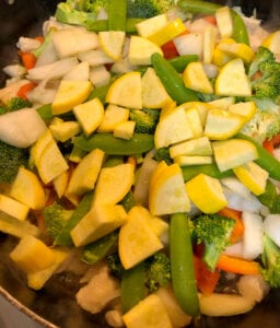 Add the Yellow Squash to the Asian Stir Fry