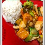 Chicken and Vegetables in Brown Sauce