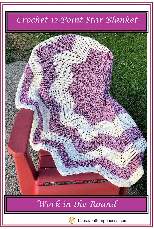 Crochet 12-Point Star Blanket