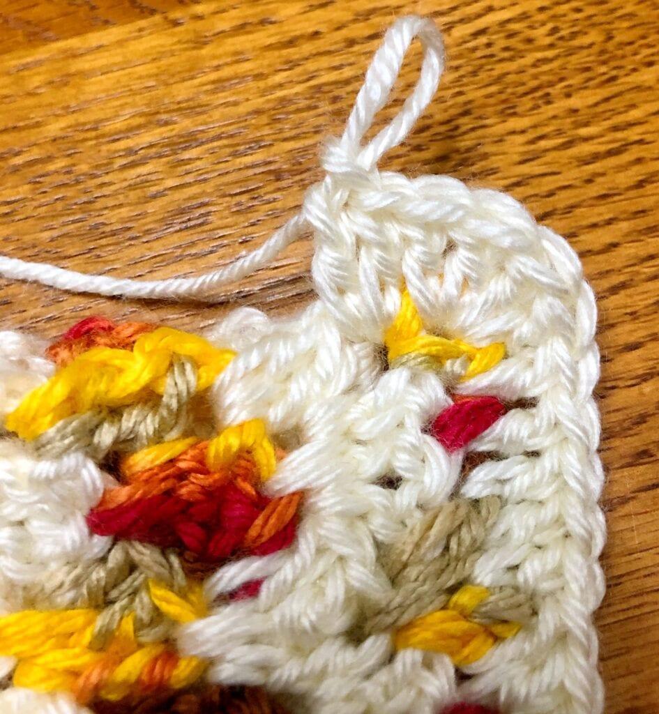 Three Double Crochet in Each Corner