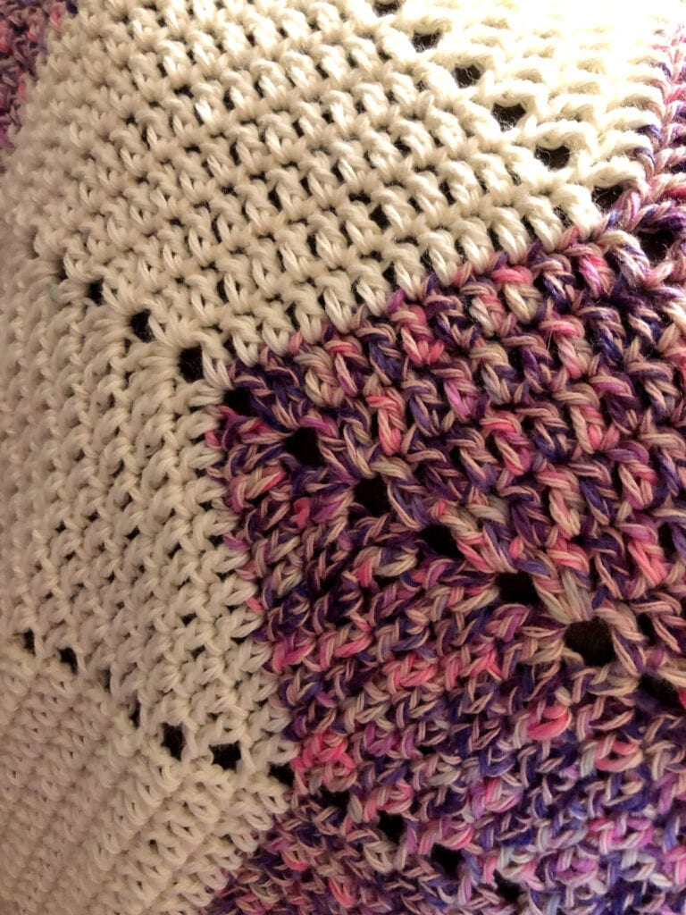 Color Changes Throughout the Star Afghan