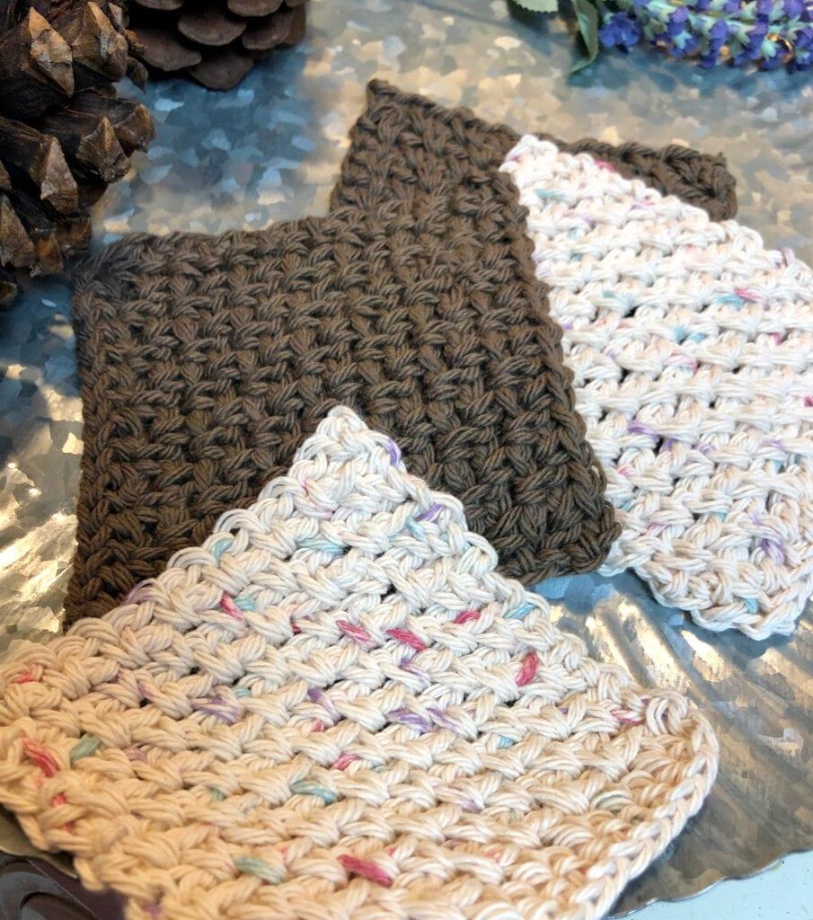 Crochet Textured Square Coaster Pattern