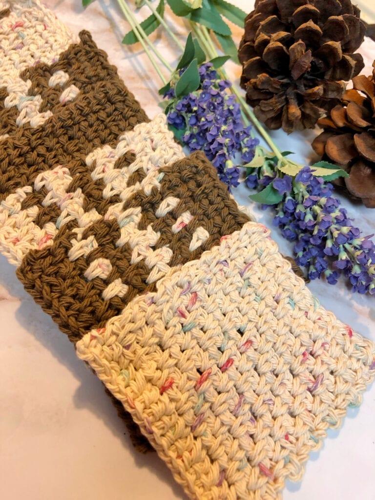 Beginner Linen Stitch Coaster Displayed