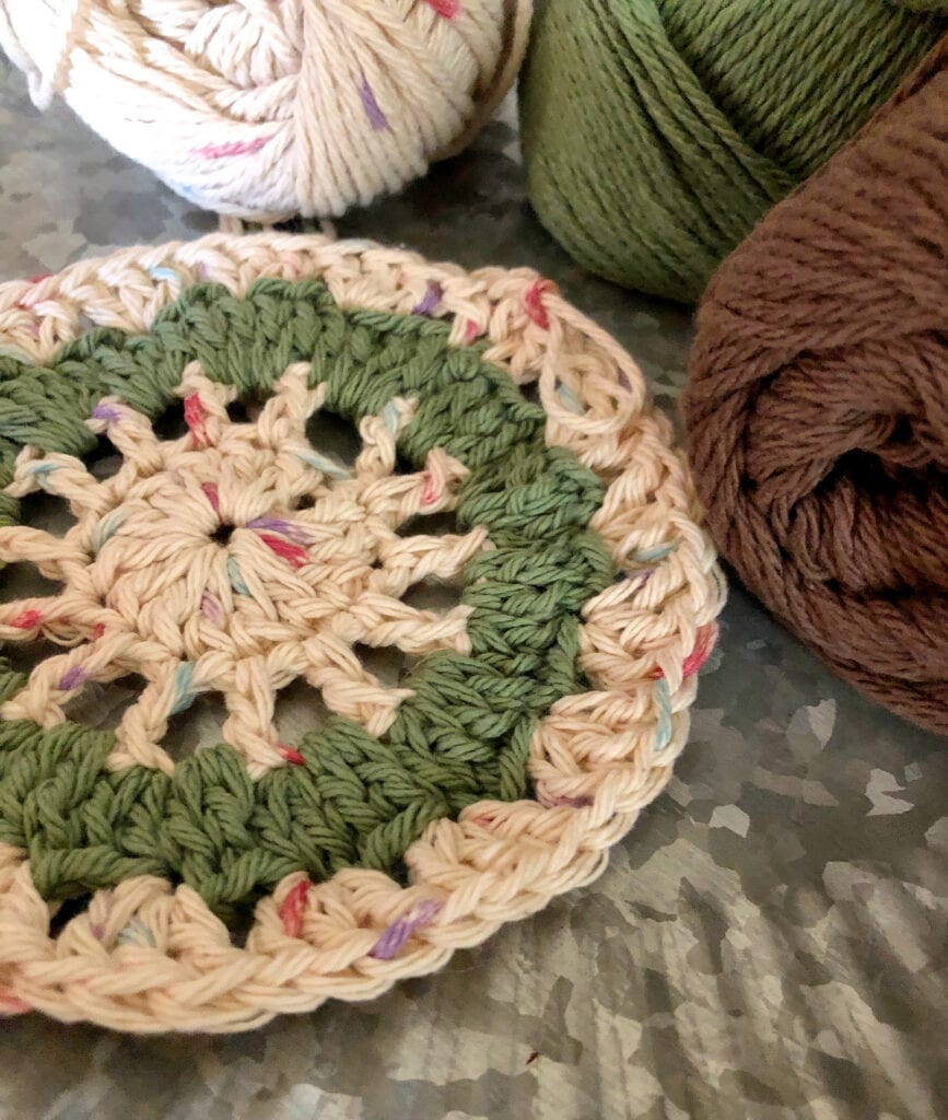 Crochet Doily After Round Four