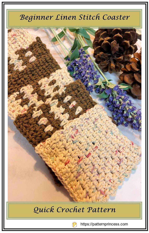 Beginner Linen Stitch Coaster