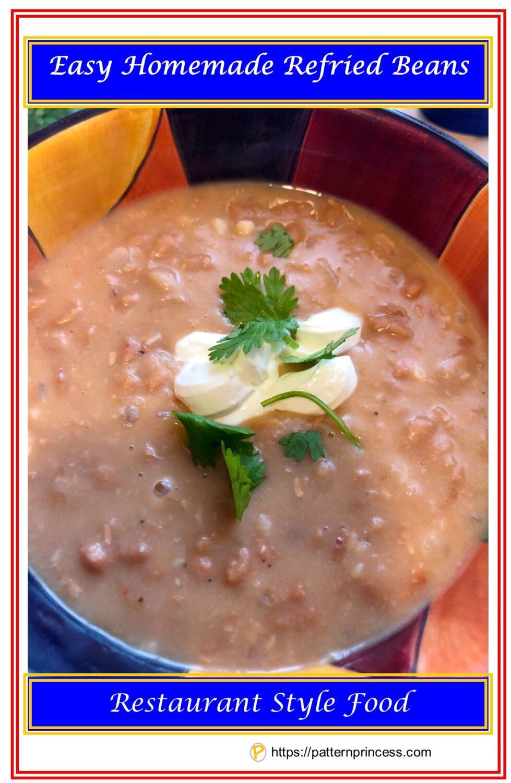 Easy Homemade Refried Beans
