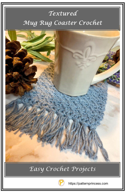 Textured Mug Rug Coaster Crochet