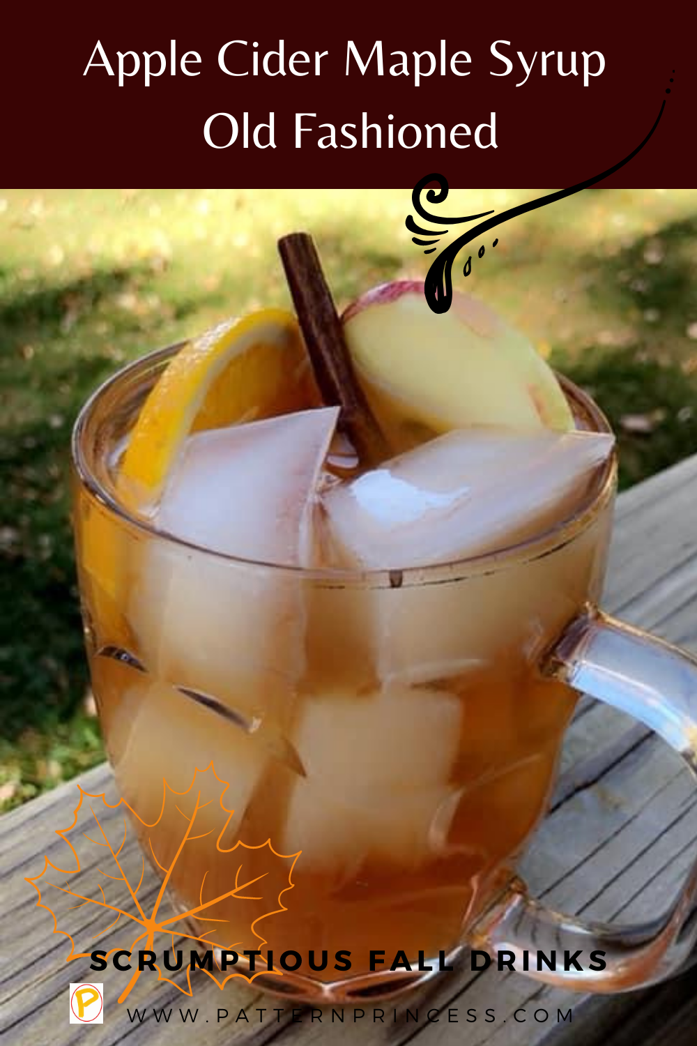 Apple Cider Maple Syrup Old Fashioned