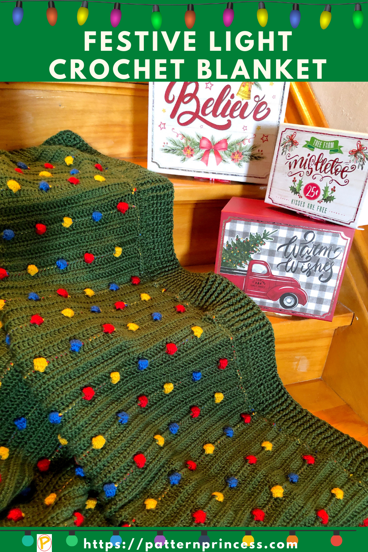Festive Light Crochet Blanket