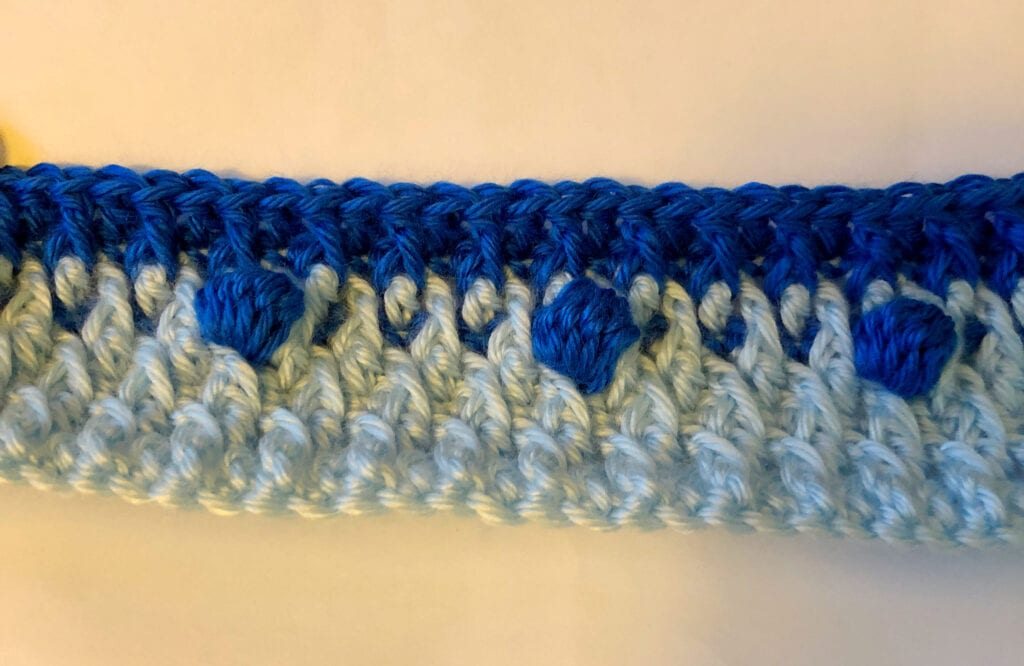 Blending in the Second Yarn Color