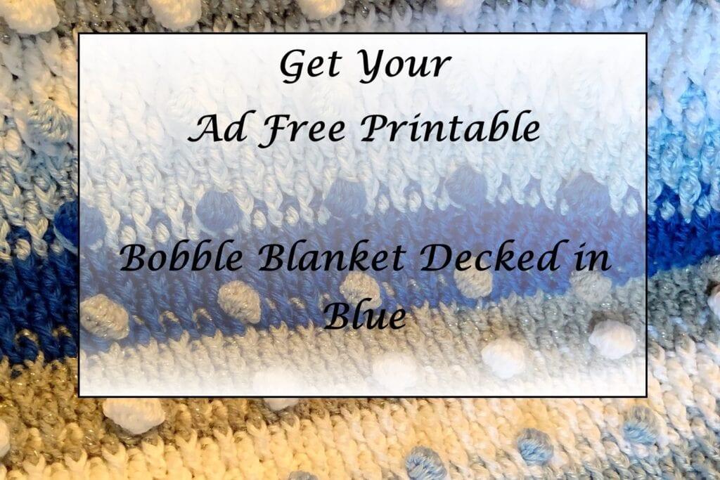 Bobble Blanket Decked in Blue Printable
