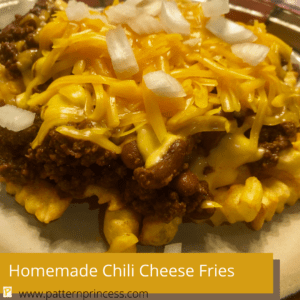 Homemade Chili Cheese Fries